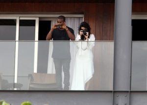 Kim Kardashian Kanye West phone