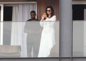 Kim Kardashian Kanye West phone 1