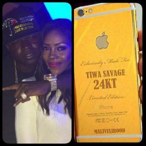 Tiwa Sawage phone
