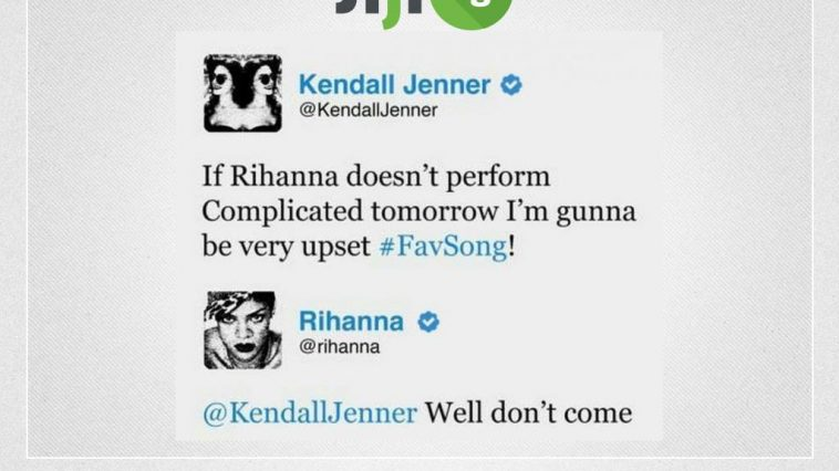Rhanna tweets to Kelly Jener