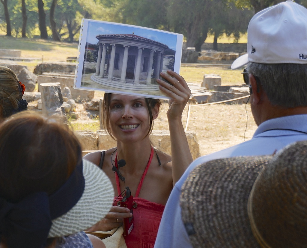 An excellent tour (and guide) while visiting Olympia (Greece) and the Archaeological Museum on a Silver Spirit shore excursion. © 2013 Ralph Grizzle
