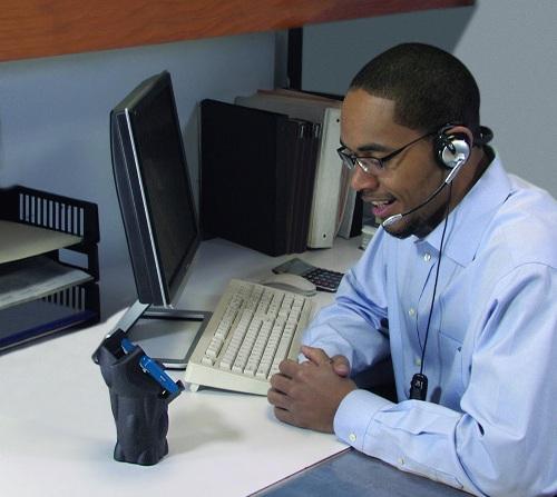 1-Man_at_Desk-Black_Holder