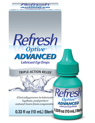 Refresh Optive Advanced Lubricant Eye Drops 2