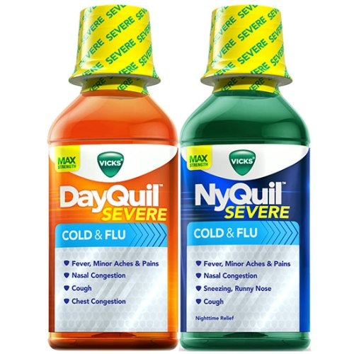 Vicks DayQuil & NyQuil Severe Cold & Flu Relief Liquid 1