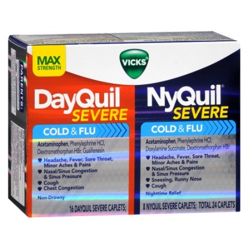 Vicks DayQuil & NyQuil Severe Cold & Flu Relief Liquid 4
