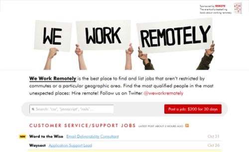 We work remotely 1