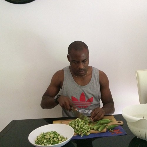 Vincent-Enyeama-Cooking-Okoro