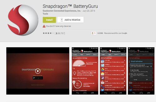 Do not use applications to save the battery power 1