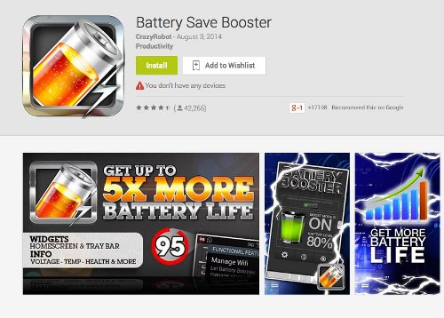 Do not use applications to save the battery power 2