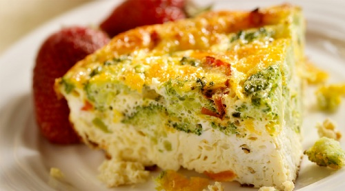 Frittata with broccoli and sweet peppers 1