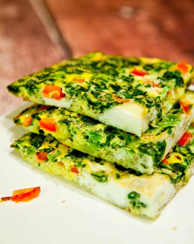 Frittata with broccoli and sweet peppers 5