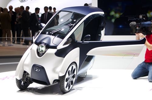 Toyota i-Road with opened door