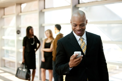 Business Man with Smart Phone