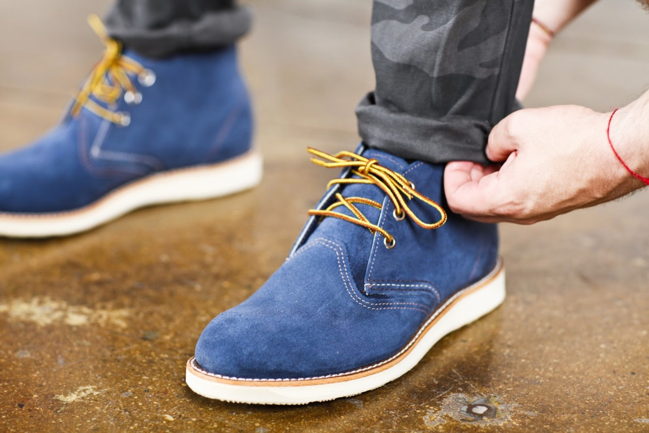 Blue-Suede-Shoes-with-Yellow-Laces
