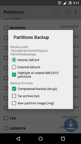 Partitions Backup & Restore