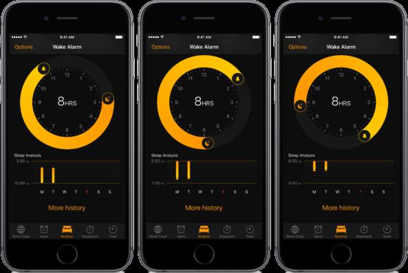 iOS-10-Bedtime-Alarm-adjusting-sleep-wake-times-space-gray-iPhone-screenshot-001-593x397