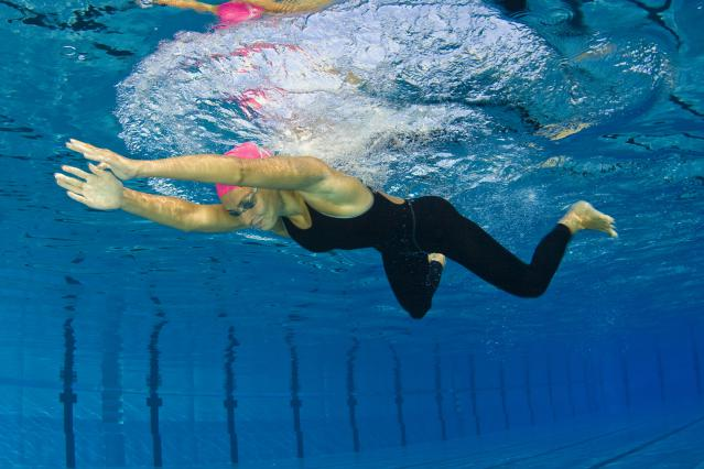 Female swimmer at breaststroke