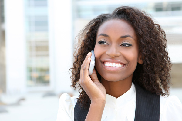 black-woman-on-the-phone-smiling