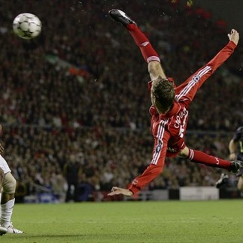 2006, Crouch, Anfield, Liverpool. UEFA Champion League 200