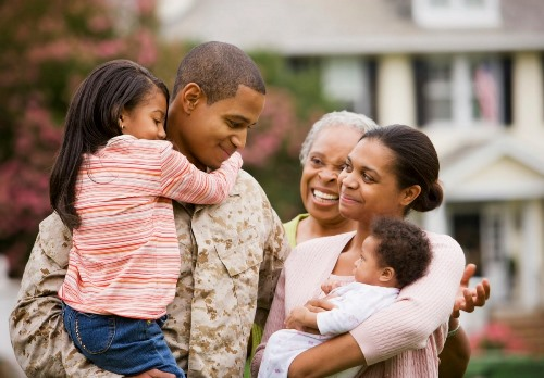 African American military family