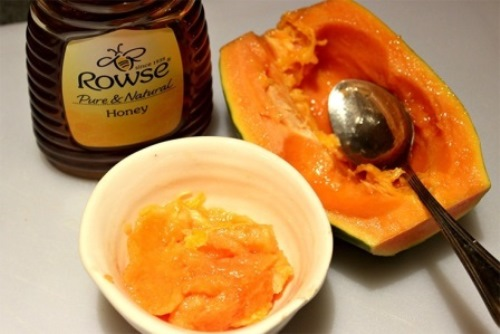 Papaya and honey