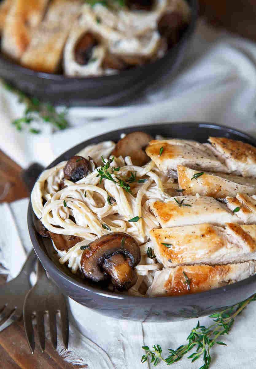 mushroom-chicken-pasta
