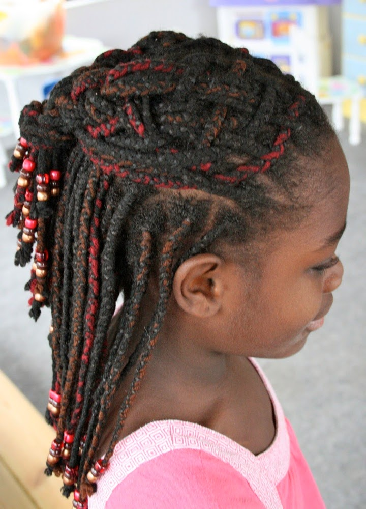 Beaded hairstyles for kids