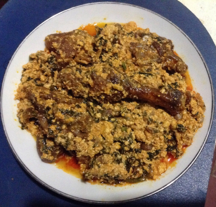 egusi soup with chicken