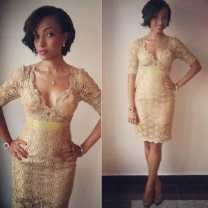 lace short gown styles