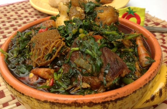 egusi soup with waterleaf