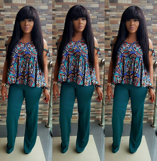 Mercy Aigbe latest style