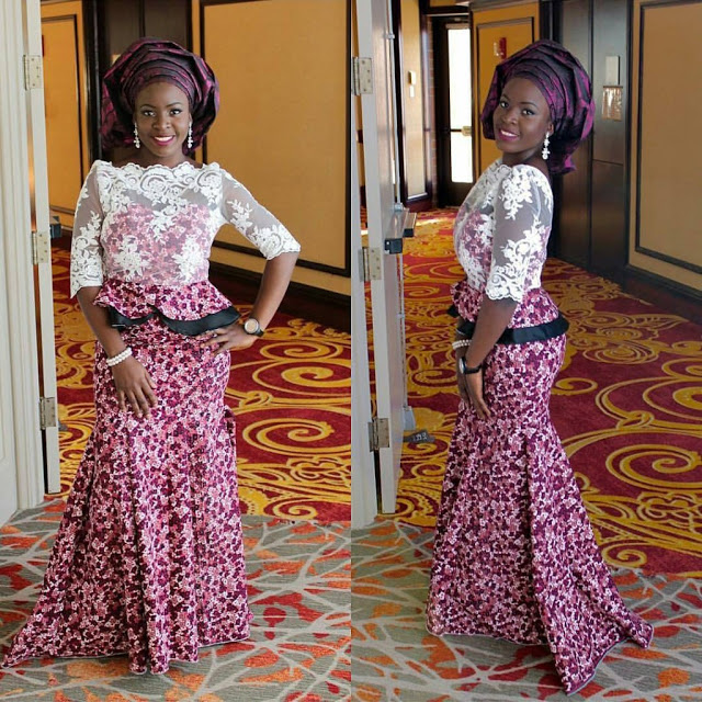 ankara and lace combination styles 2017