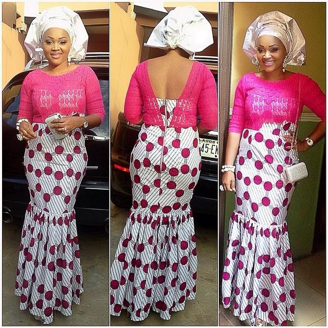 Mercy Aigbe aso ebi style