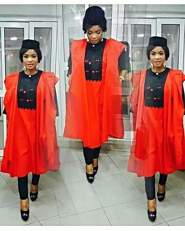 female agbada gown