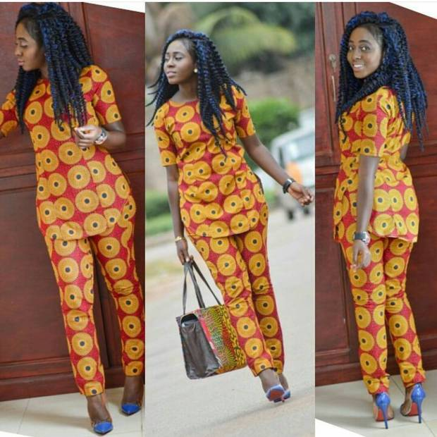 Ankara trousers and long blouse