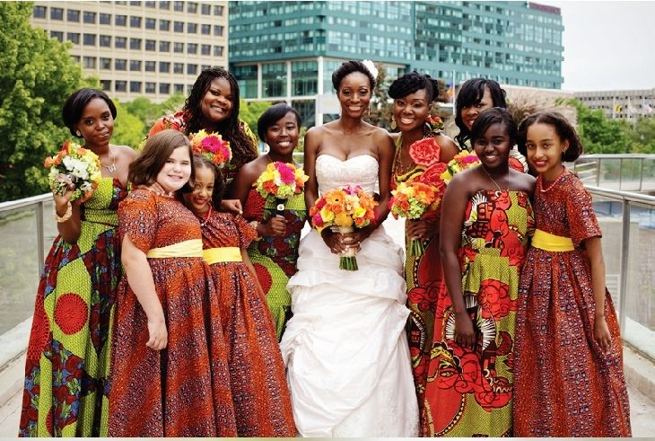 Ankara bridesmaid dresses