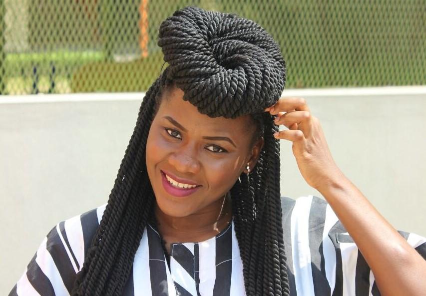 wool braid hairstyles