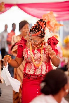 Igbo blouses with floral patterns