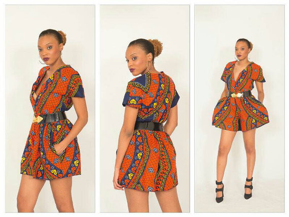 Short Ankara jumpsuit styles