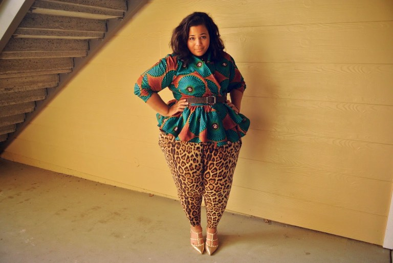 Plus size Ankara skirts and tops