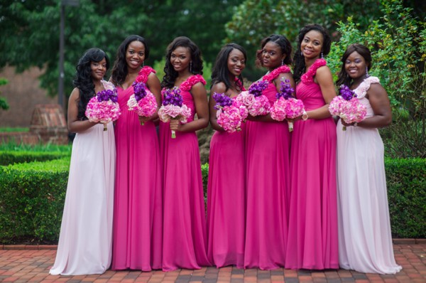 Bridal train dresses in Nigeria