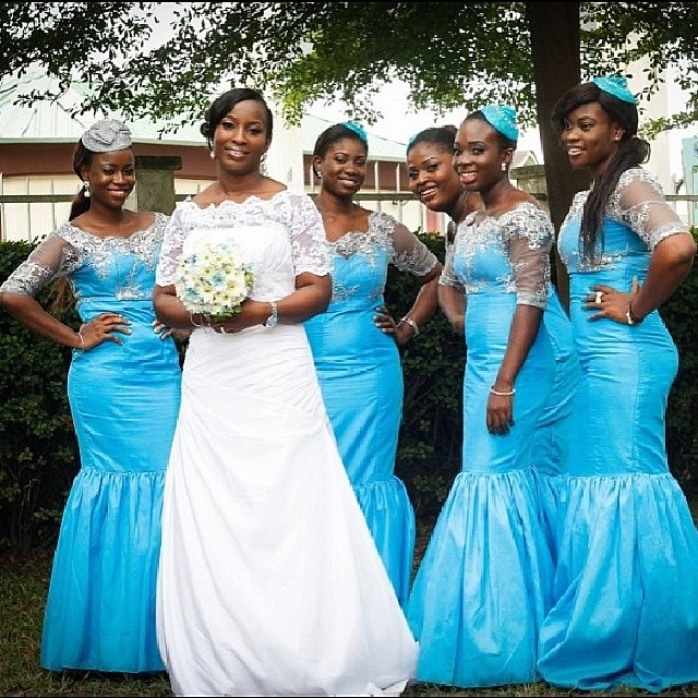 Bridal train dresses in afrika