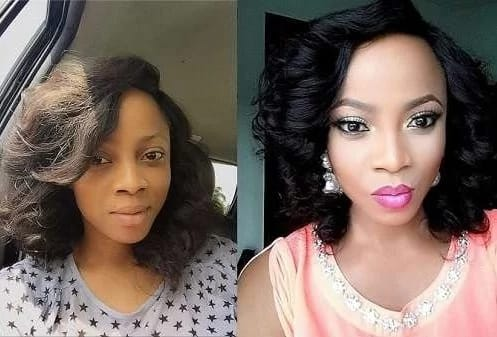 Toke Makinwa before and after pictures