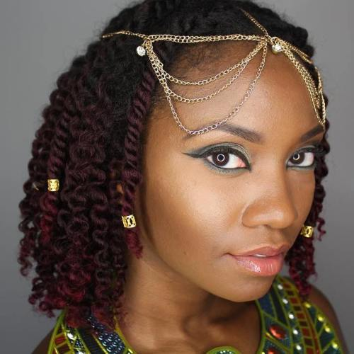 Kinky braids with beads