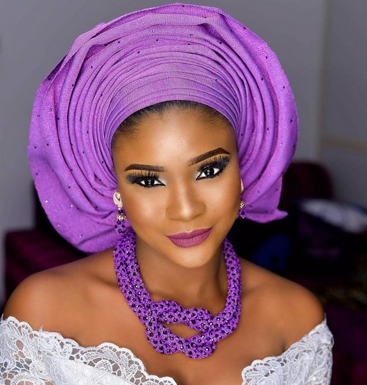 makeup and gele tying