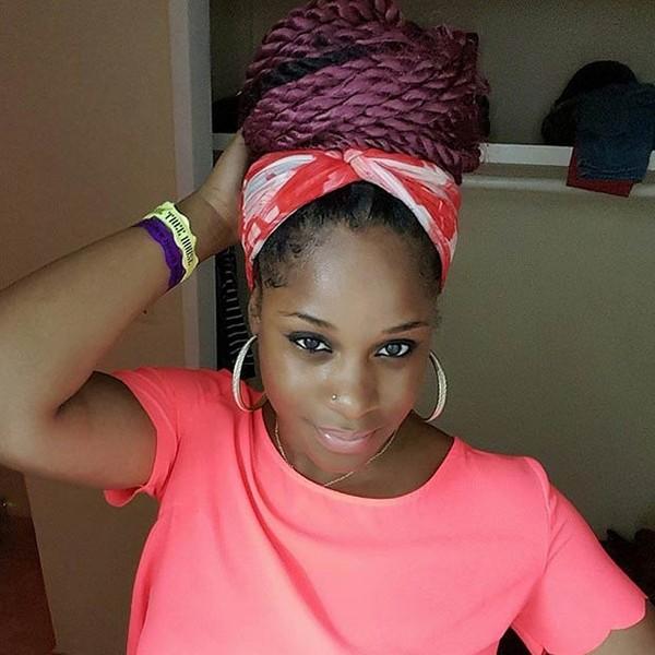 Kinky braids + scarf