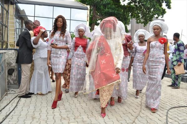 Funke Akindele wedding dress