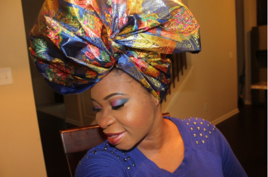 How to tie butterfly gele