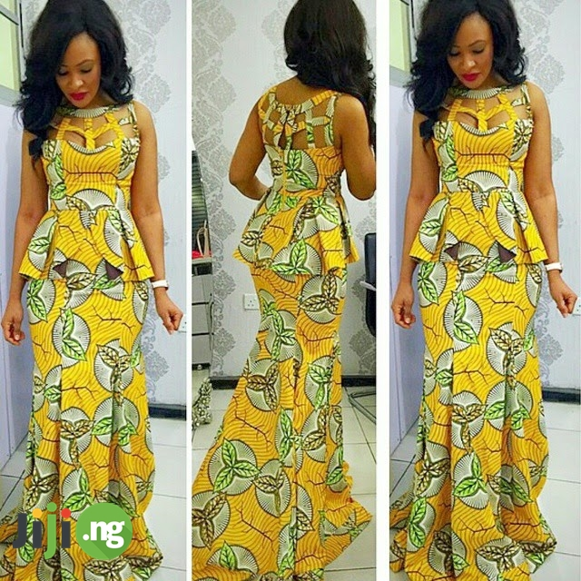ankara dresses with sequence