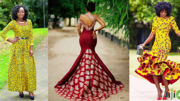 sequin ankara dress